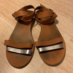 Madewell leather sandals Size 8.5